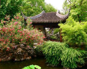 Chinesischer Garten mit Pavillion
