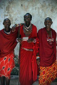 Weitere Einwohner Kenias: die Masai