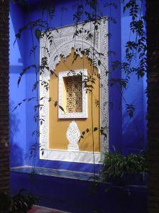 Typich marokkanischer Baustil, zu bewundern im Jardin Majorelle, Marrakesch