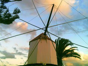 Windmühlen prägen das Bild von Portugal, auf dem Festland und auf den Inseln
