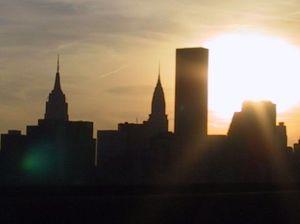 Skyline in den USA. New York? Boston? Miami?